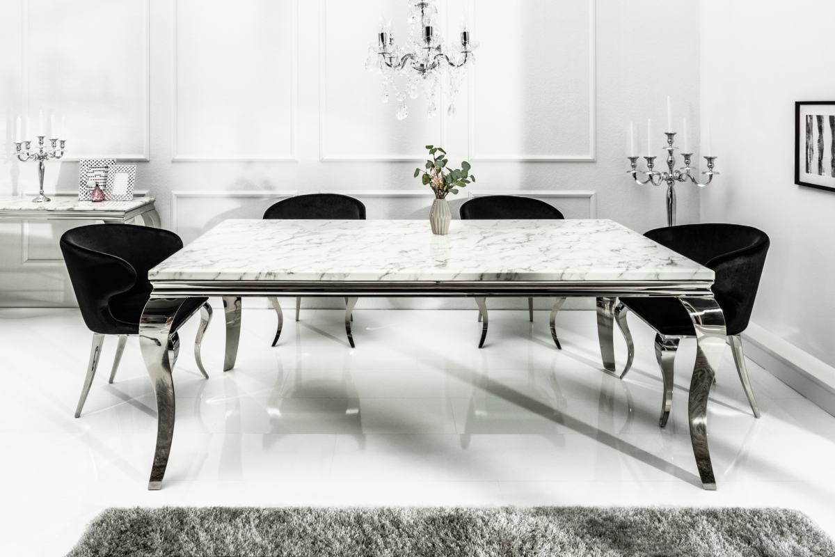 Designový jídelní stůl Rococo 200 cm mramor