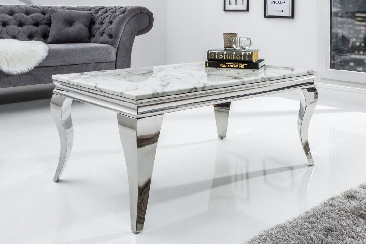 Designový konferenční stolek Rococo 100 cm mramor