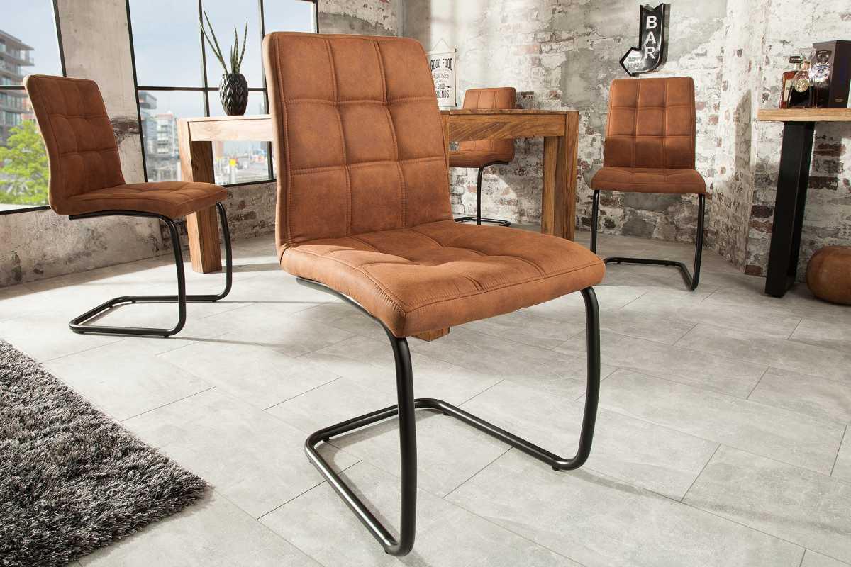 Designová konzolová židle Moderna, světlehnědá-Skladem na SK-SB 4ks