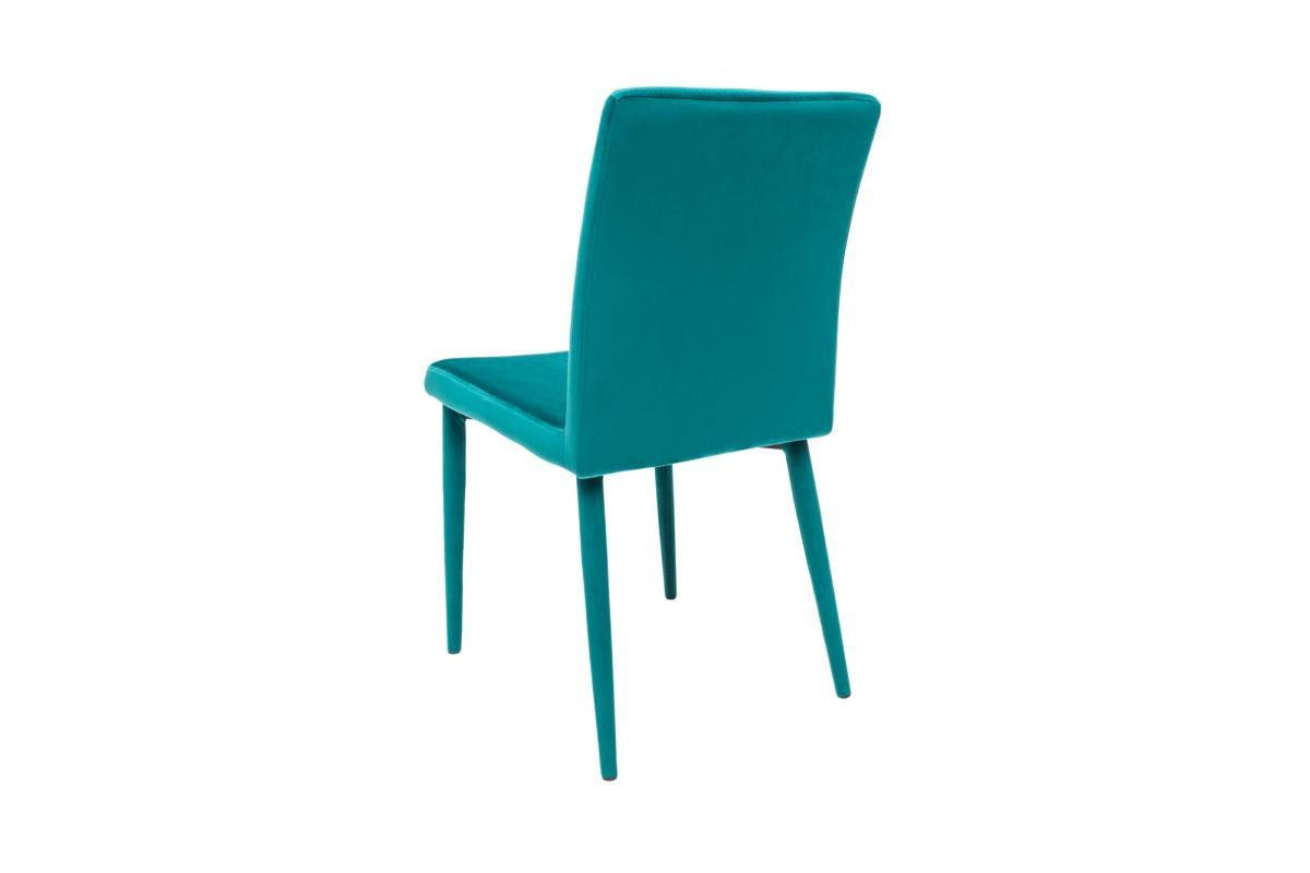 Designová židle Neapol, modrý samet