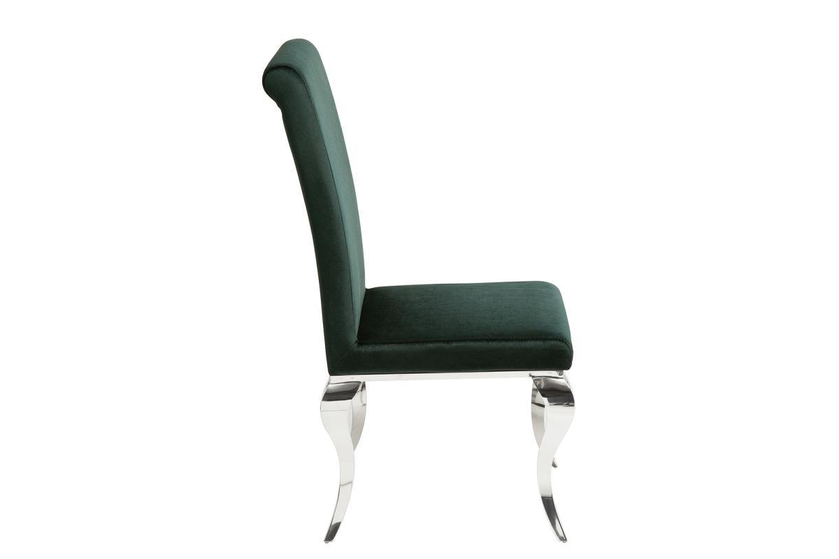 Designová židle Rococo zelený samet