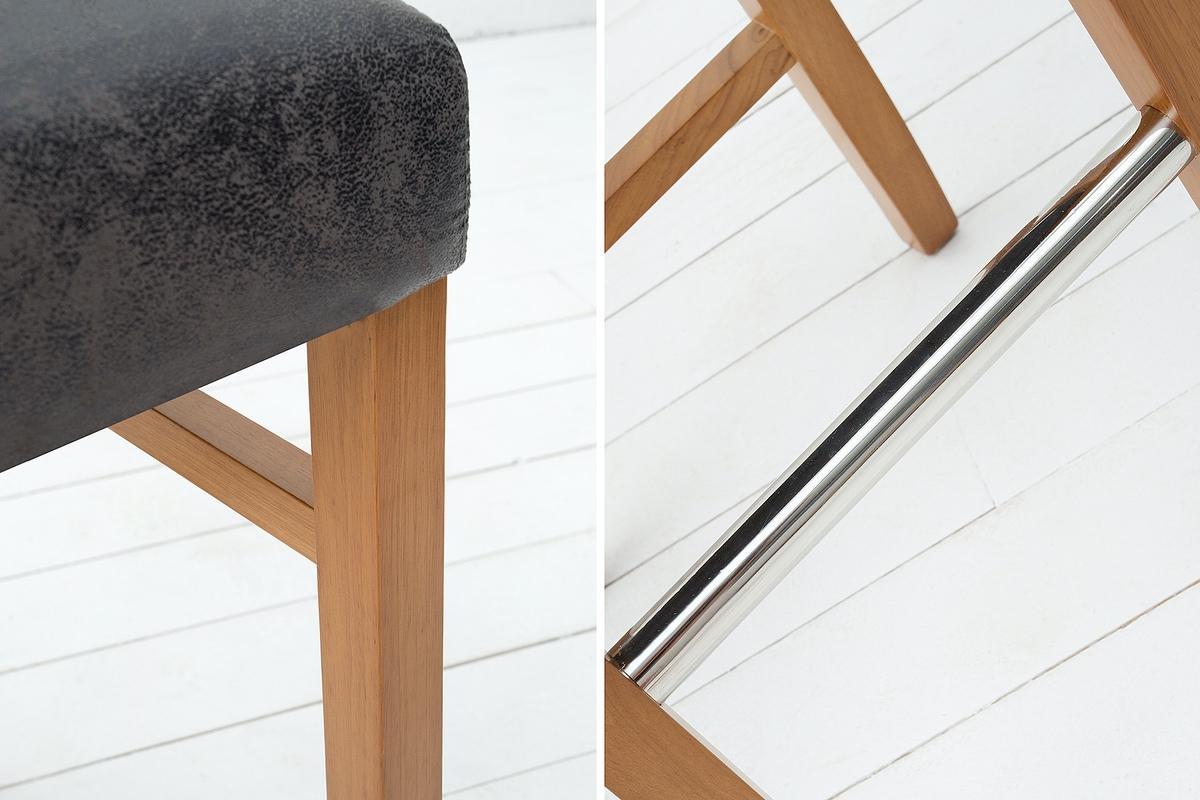 Barová židle Clemente šedá vintage