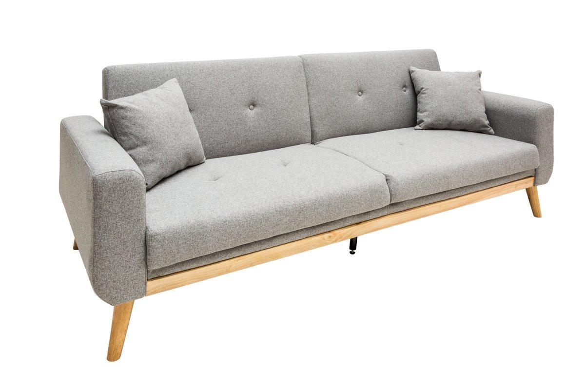 Rozkládací sedačka Romeo, 215 cm, šedá