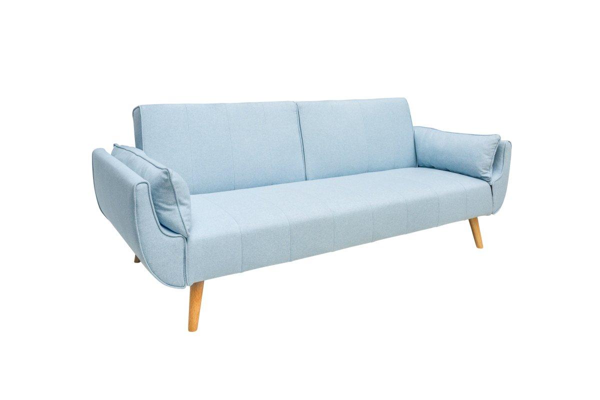 Rozkládací sedačka Amiyah, 215 cm, světle modrá