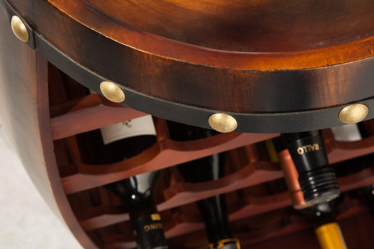 Regál na víno Reed 80 cm, kávový