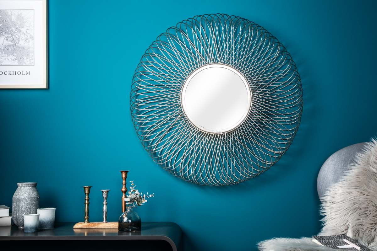 Designové zrcadlo Cayley L, stříbrné