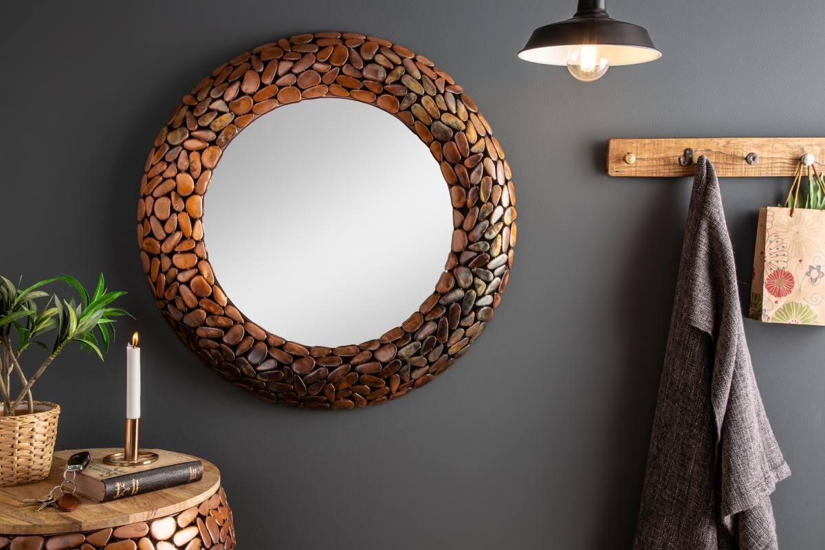 Designové zrcadlo Mauricio, 82 cm, měděné
