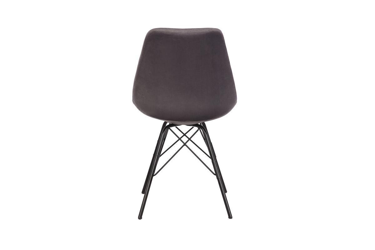 Designová jídelní židle Sweden Retro, stříbrný samet