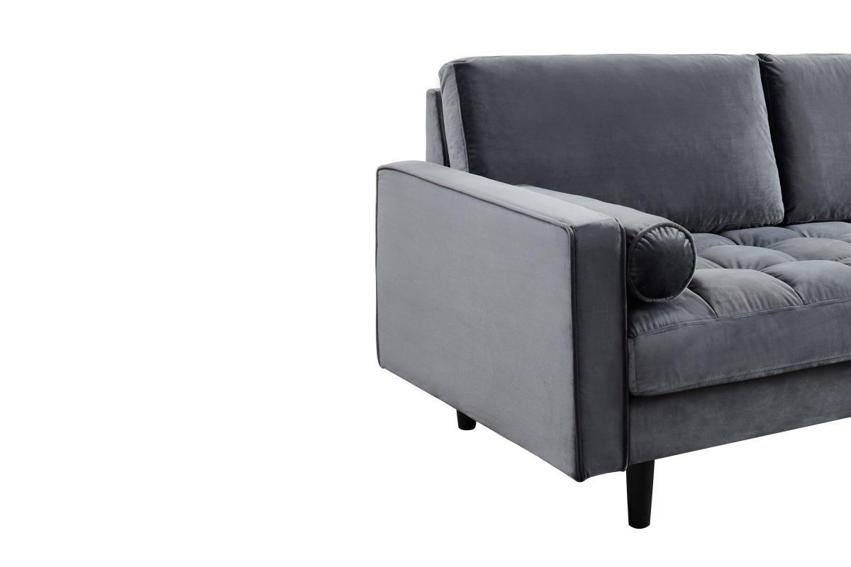 Rohová sedačka Adan šedý samet
