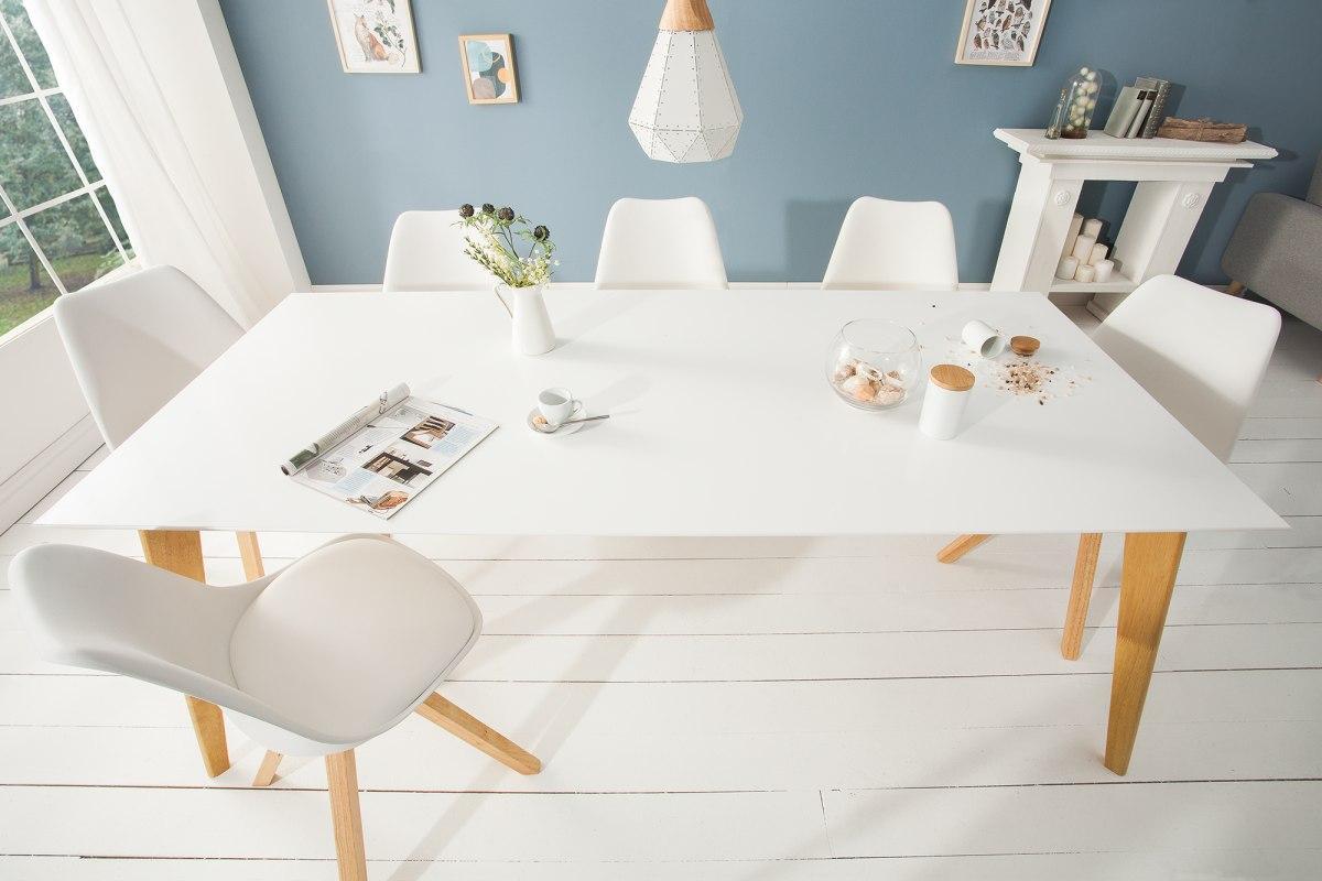 Designový jídelní stůl Sweden, 200 cm, bílý