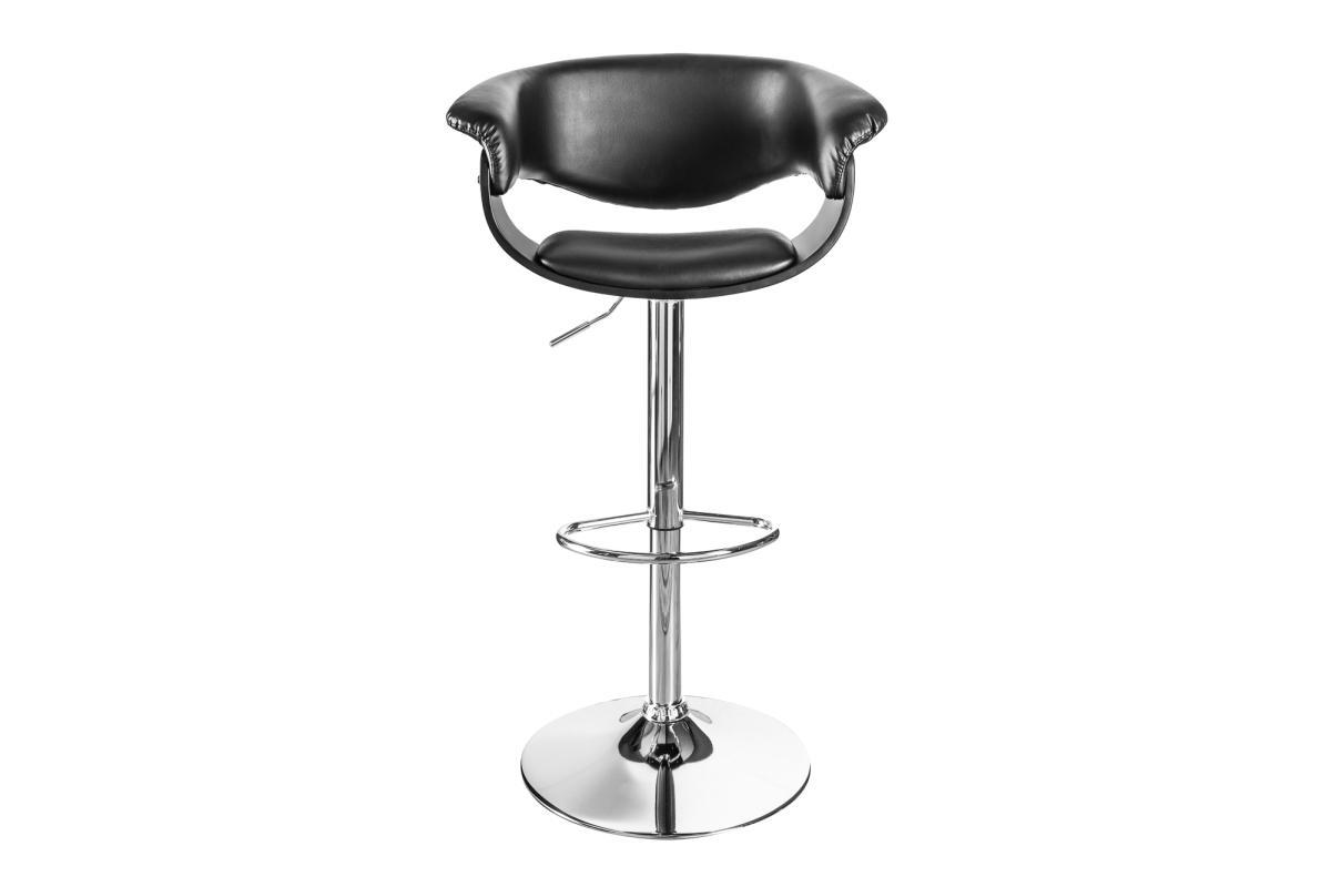 Designová barová židle Dane, černo-stříbrná