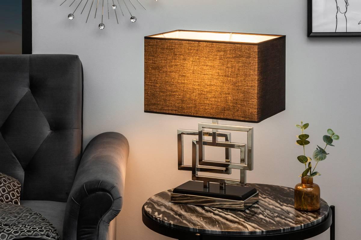 Designová stolní lampa June, 56 cm, stříbrná