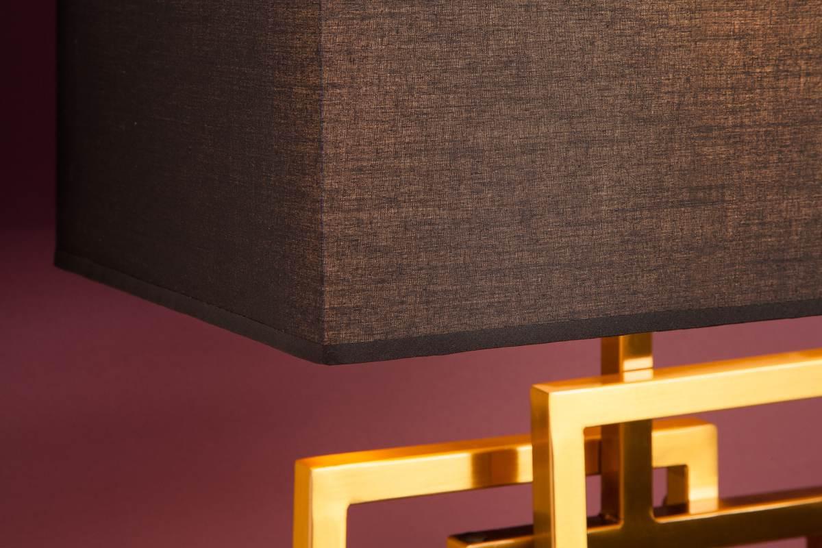 Designová stolní lampa June, 56 cm, zlatá