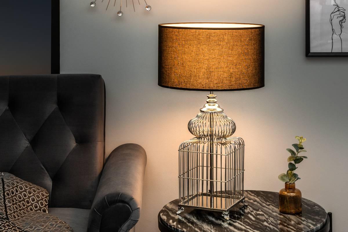 Designová stolní lampa Bruce, 68 cm, stříbrná