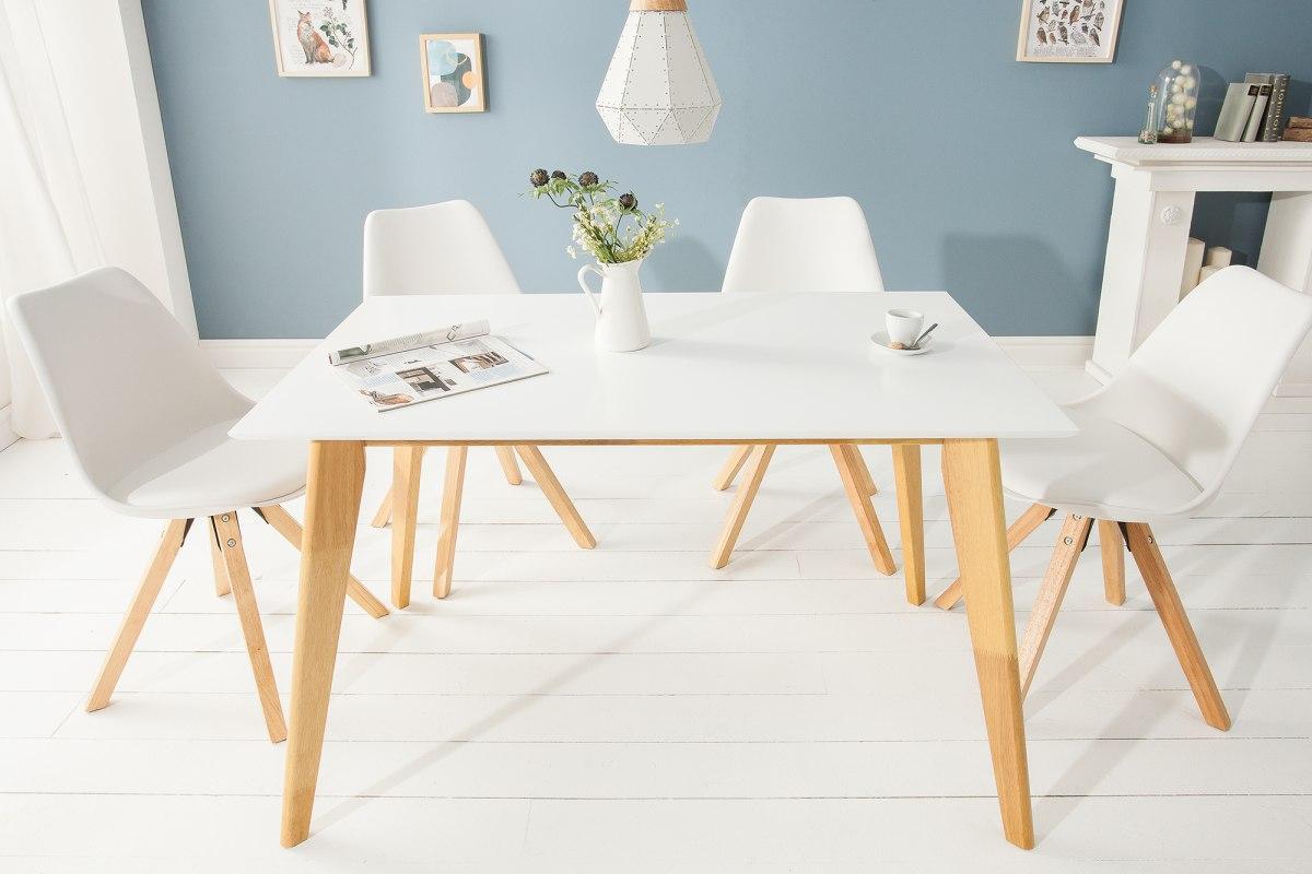 Designový jídelní stůl Sweden, 120 cm, bílý
