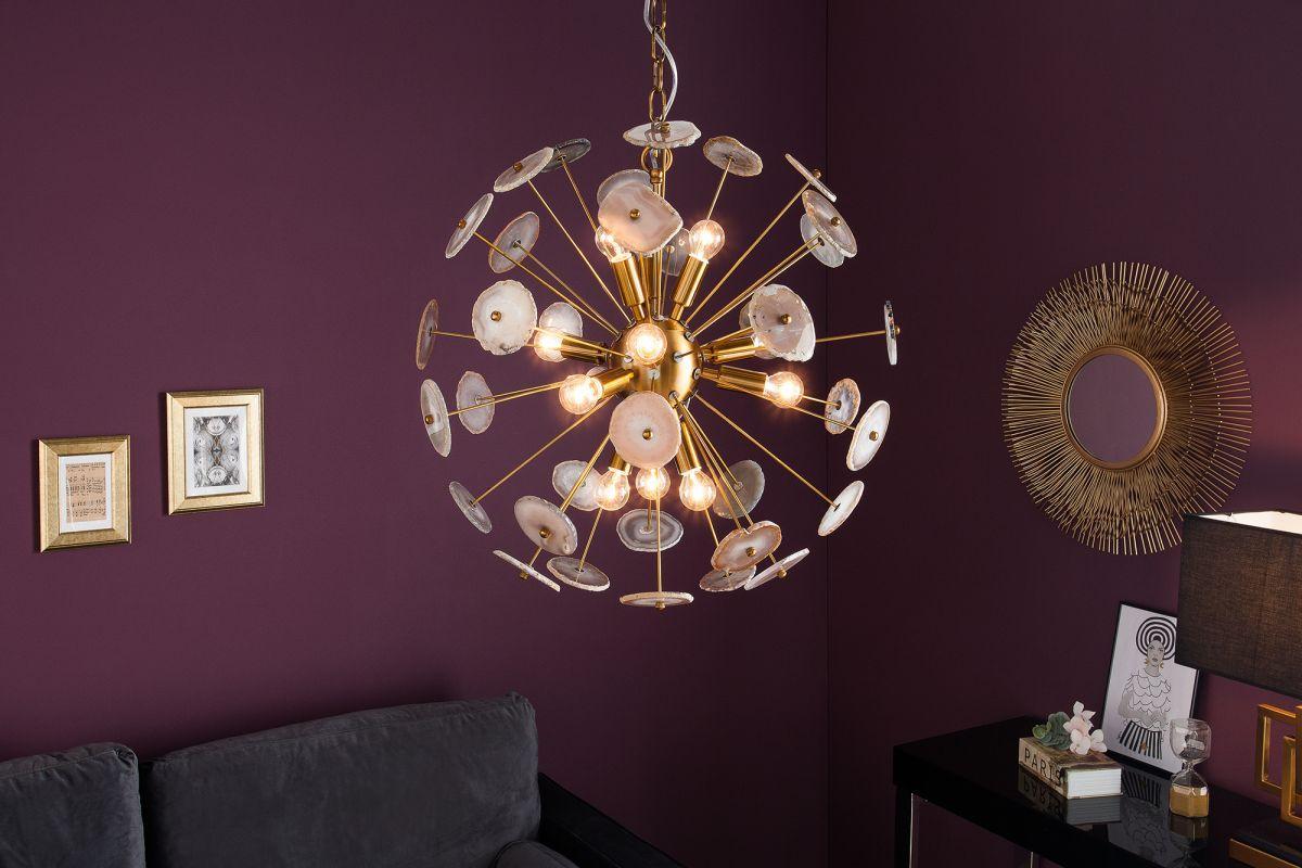 Designové závěsné svítidlo Orion, 60 cm, zlaté