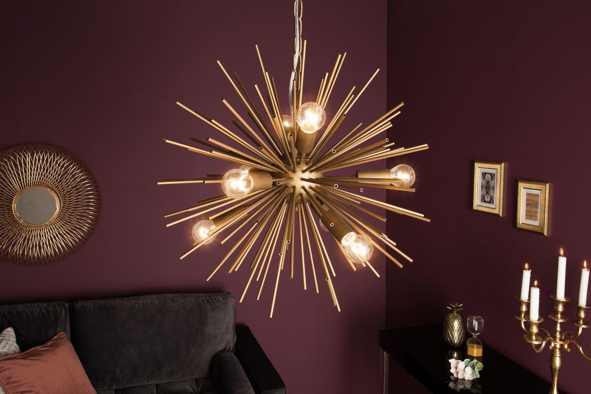 Designové závěsné svítidlo Abram, 50 cm, zlaté