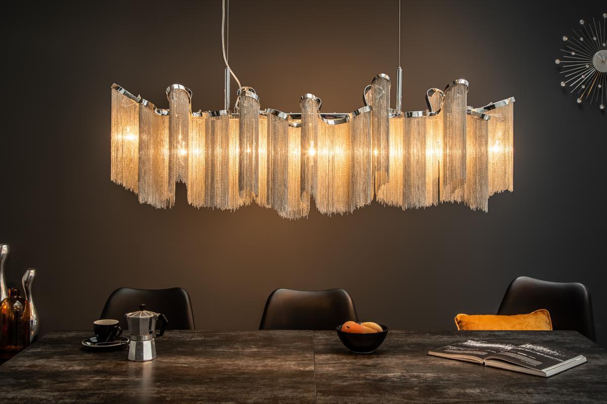 Designové závěsné svítidlo Anabelle, 76 cm, stříbrné