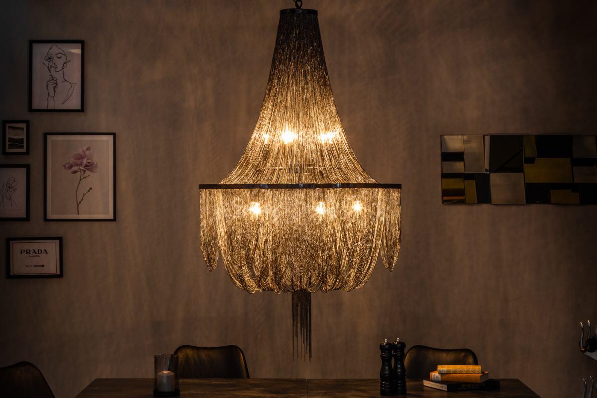 Designový lustr Bridget, 140 cm, černý