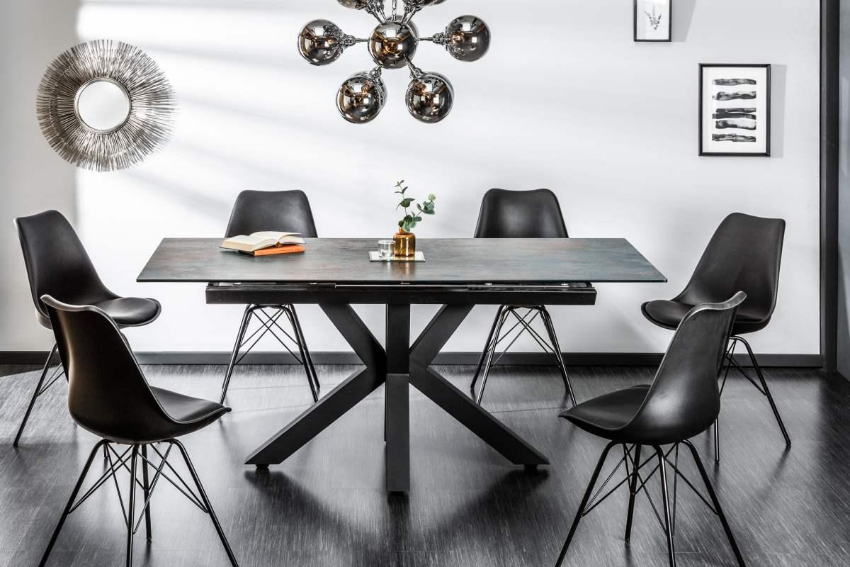 Designový jídelní stůl Zariah, 180-225 cm, láva