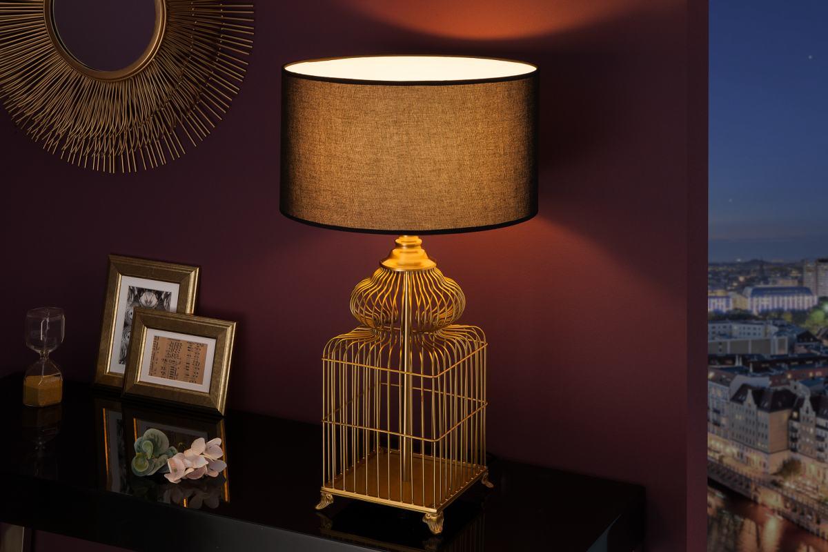 Designová stolní lampa Bruce, 68 cm, zlatá