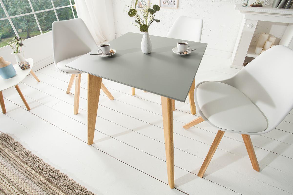 Designový jídelní stůl Sweden, 70 cm, šedý