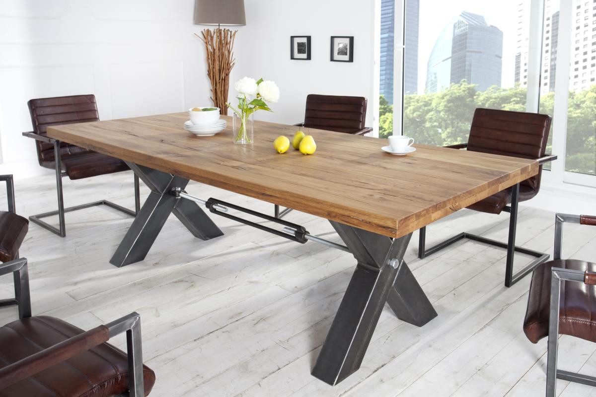 Designový jídelní stůl Thunder, 240 cm, divoký dub olejovaný