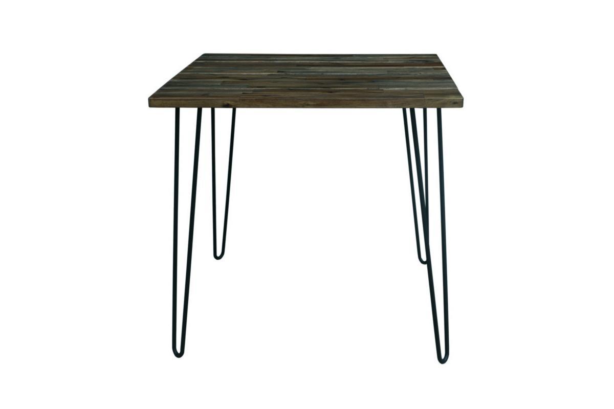 Jídelní stůl Anaya, 80 cm, vintage hnědý