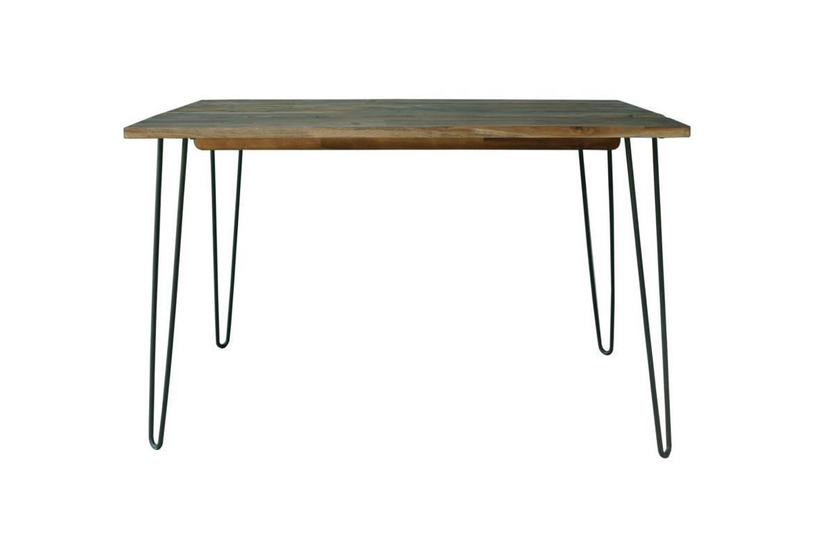 Jídelní stůl Anaya, 120 cm, vintage hnědý