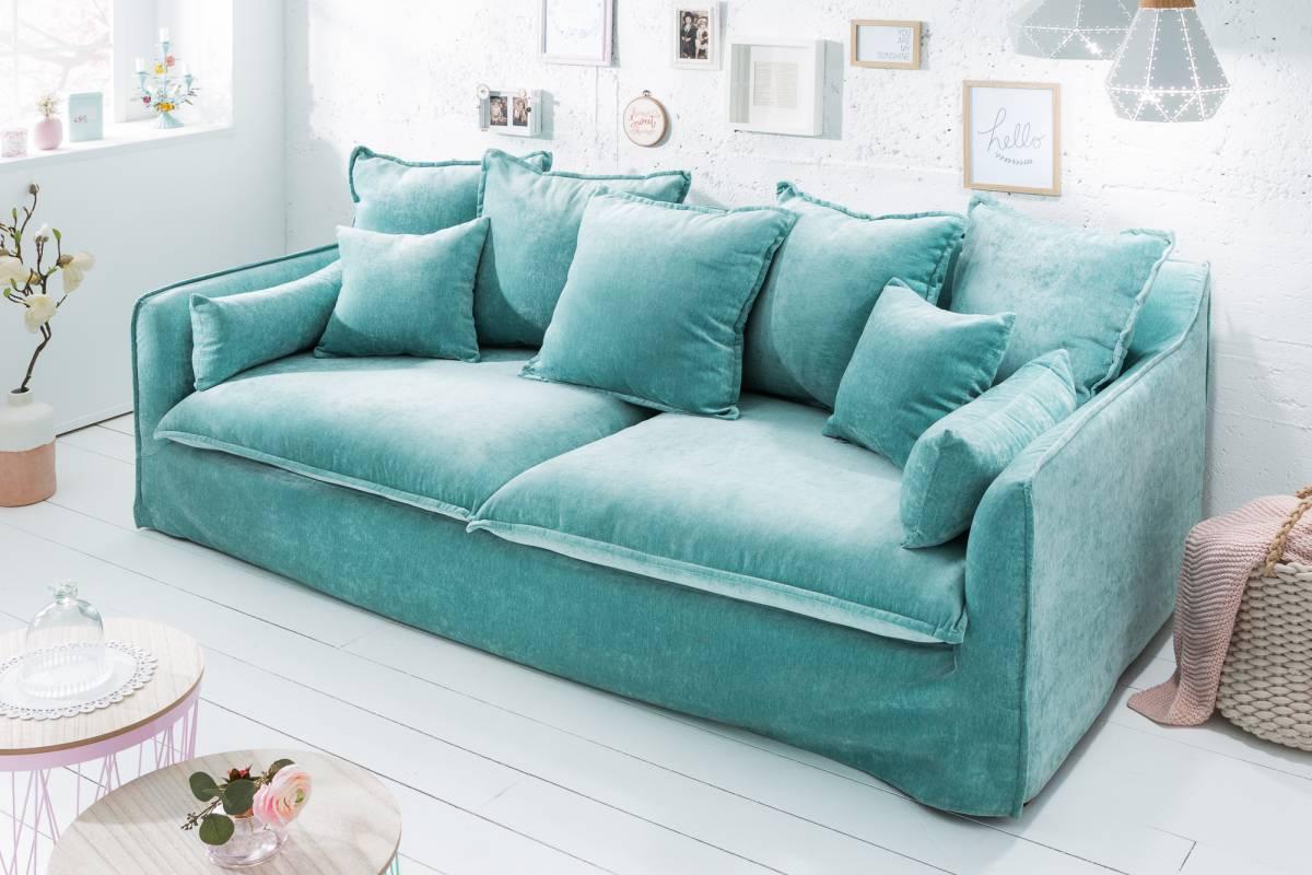 Designová sedačka Eden, modrý samet