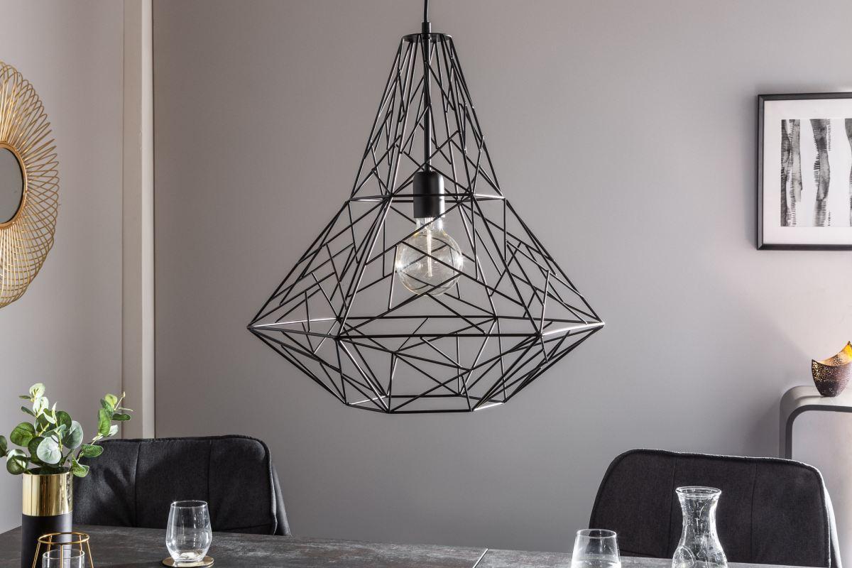 Designová závěsná lampa Bruce L, černá