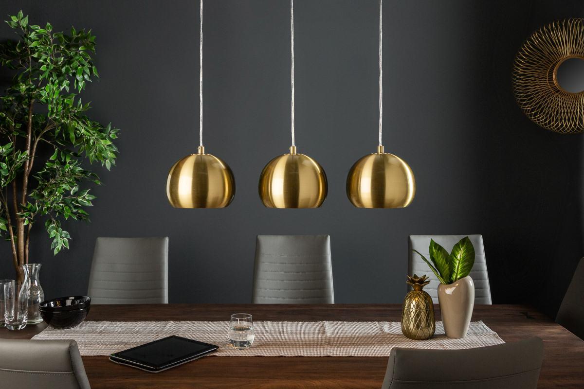 Designová závěsná lampa Giovani 3 zlatá