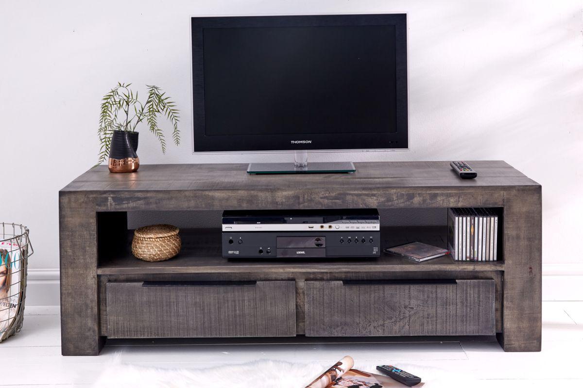 Designový TV stolek Thunder 130 cm, šedé mango