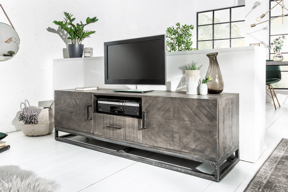 Designový TV stolek Allen Home 160 cm, šedé mango