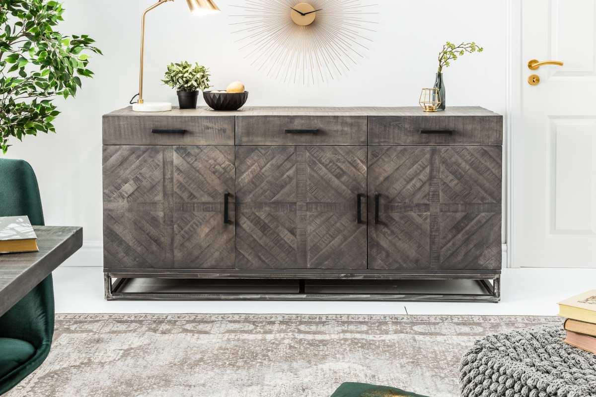 Designová komoda Allen Home 160 cm, šedé mango