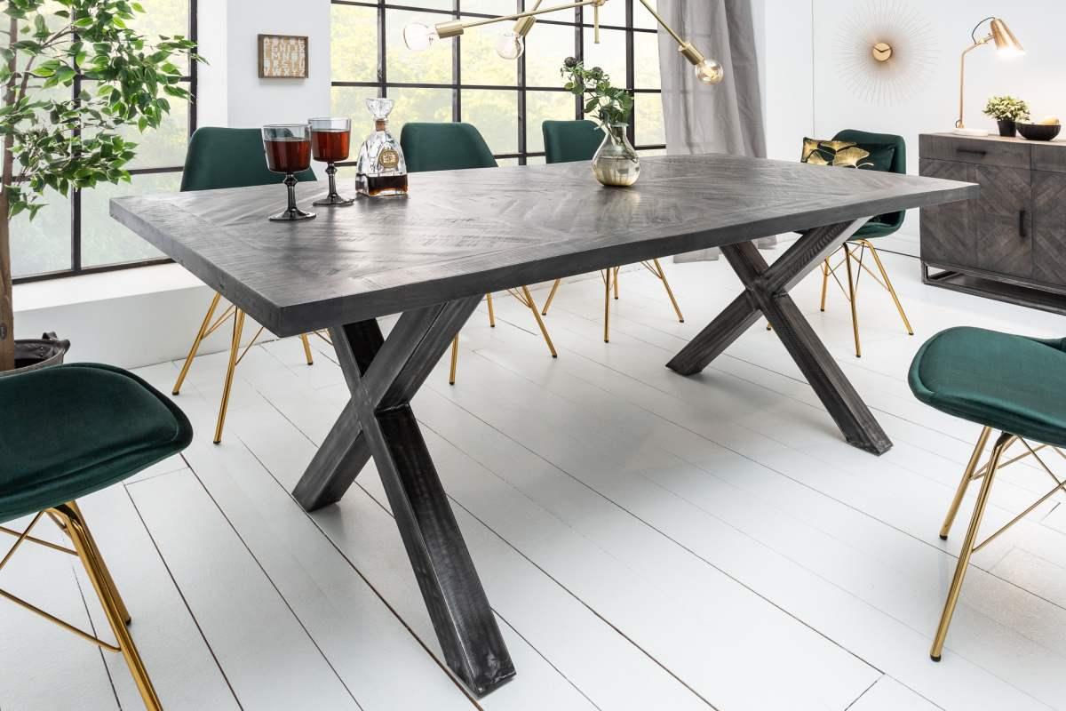 Designový jídelní stůl Allen Home 200 cm, šedé mango