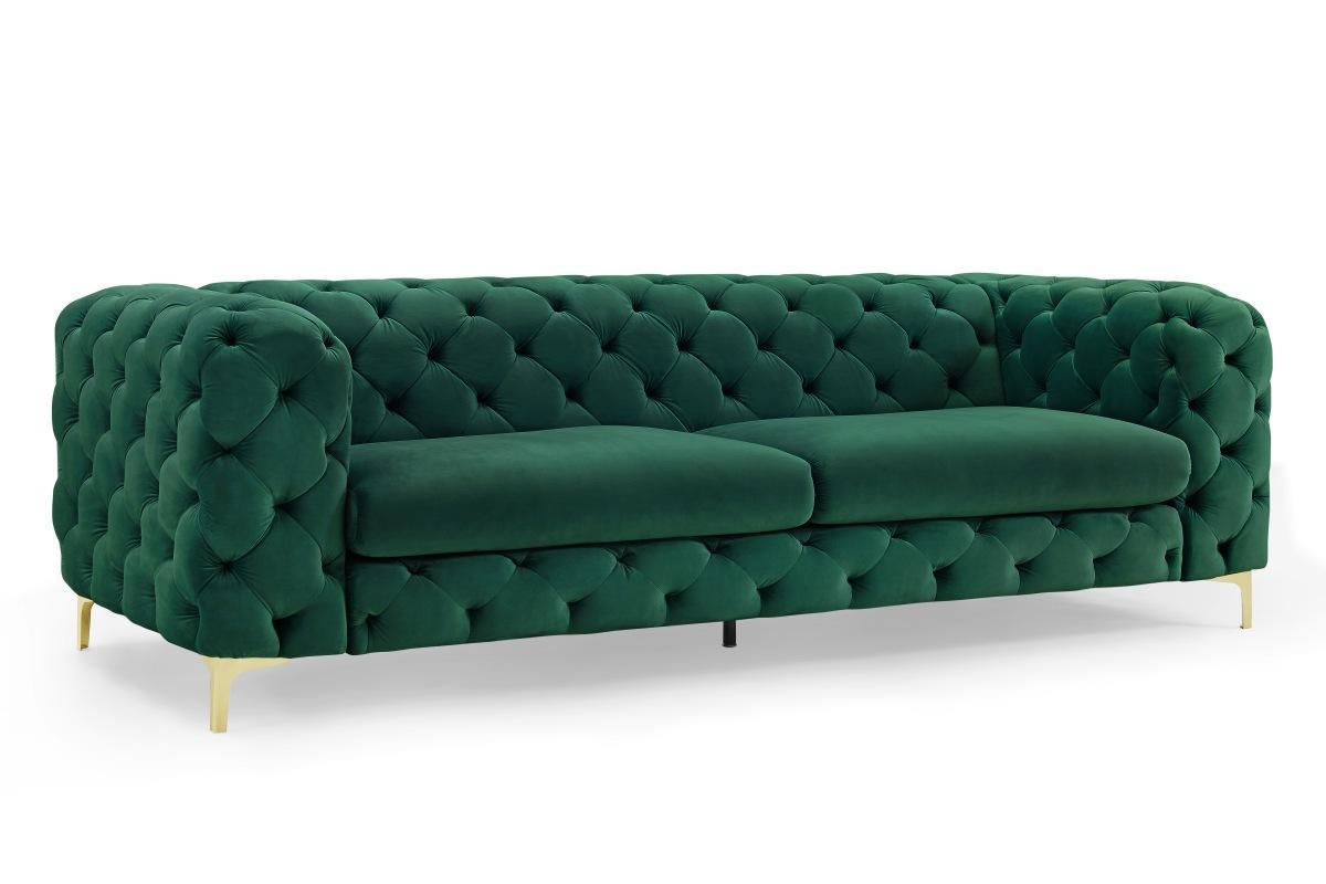 Designová sedačka Rococo, 240 cm, zelená