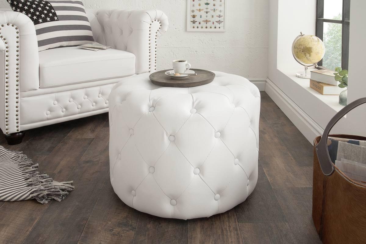 Designová taburetka Iris, 60 cm, bílá