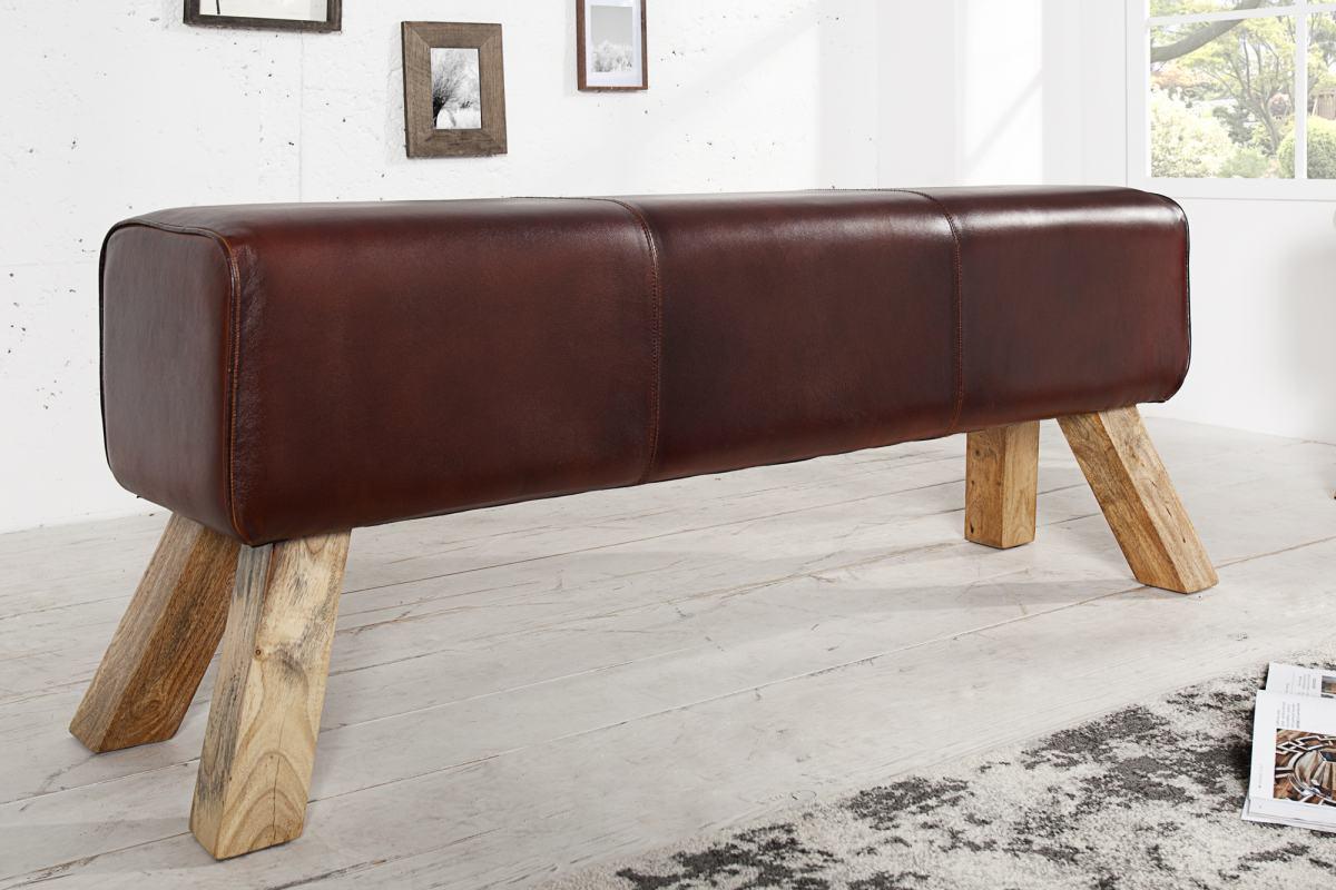 Designová lavice Horse 100 cm pravá kůže