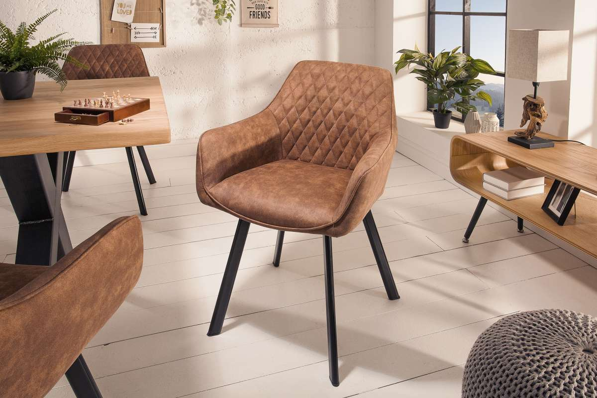 Designová židle Francesca, světlehnědá