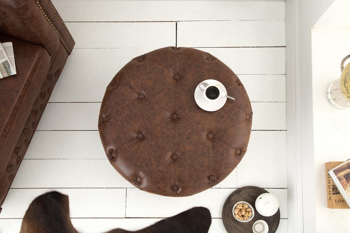 Designová taburetka Iris, 60 cm, vintage hnědá