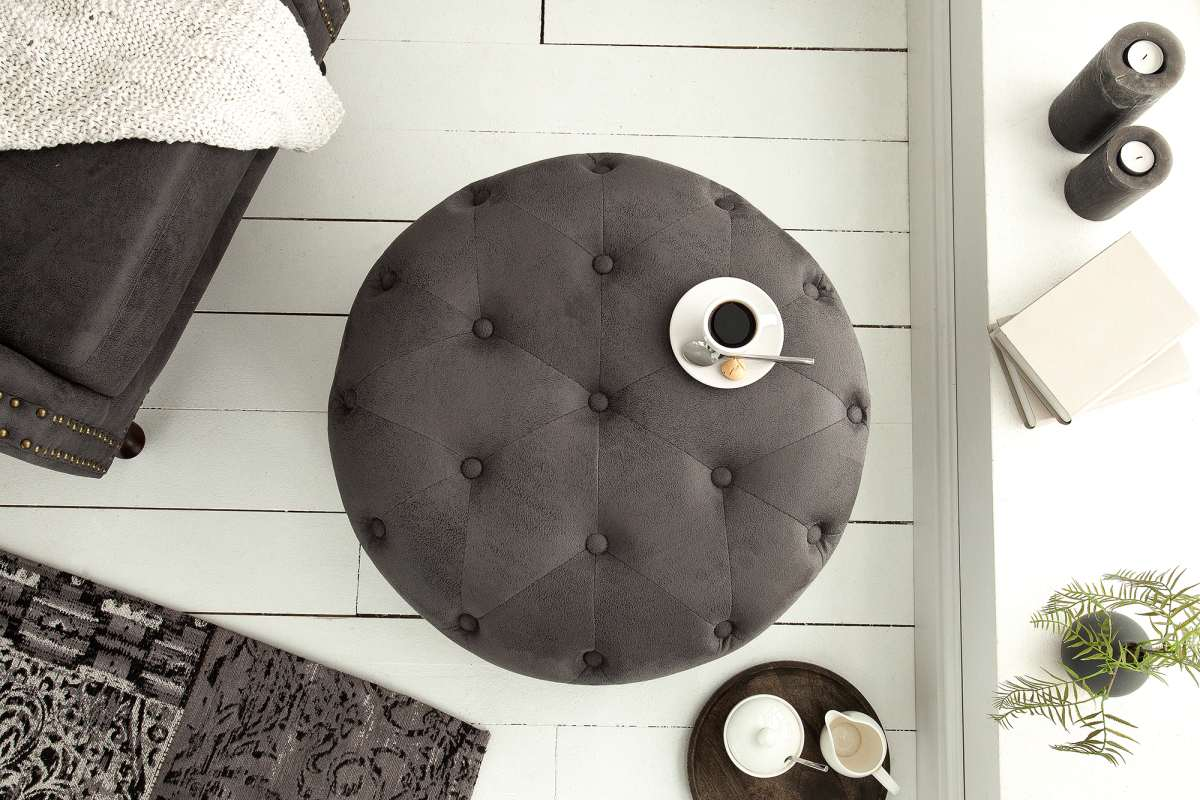 Designová taburetka Iris, 60 cm, antik šedá