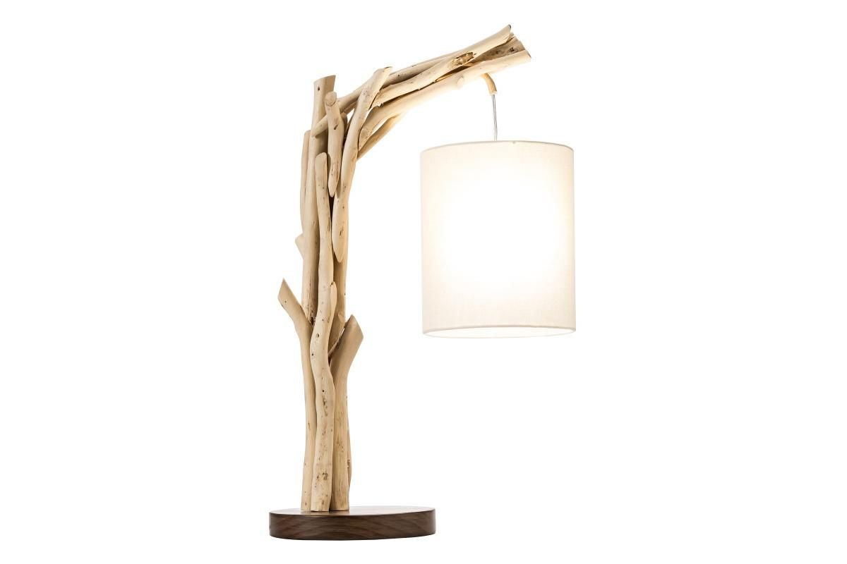Designová stolní lampa Arielle, 60 cm, náplavové dřevo