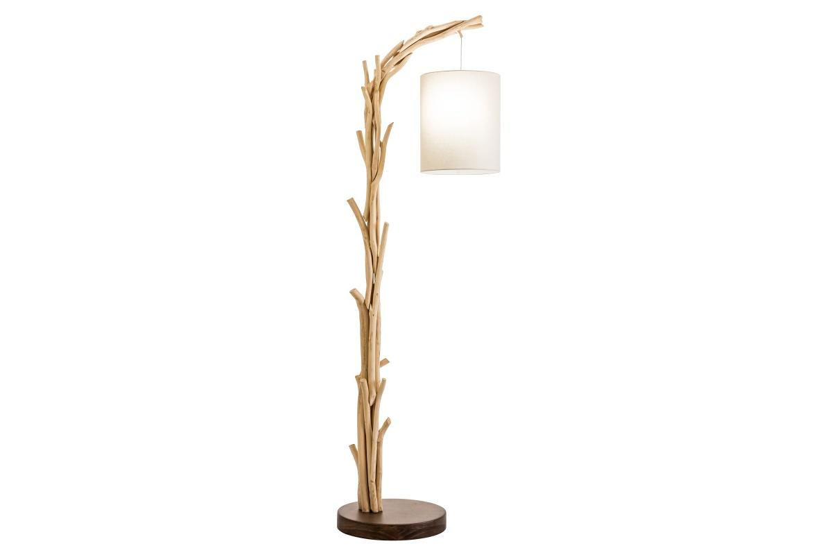 Designová stojanová lampa Arielle, 60 cm, náplavové dřevo