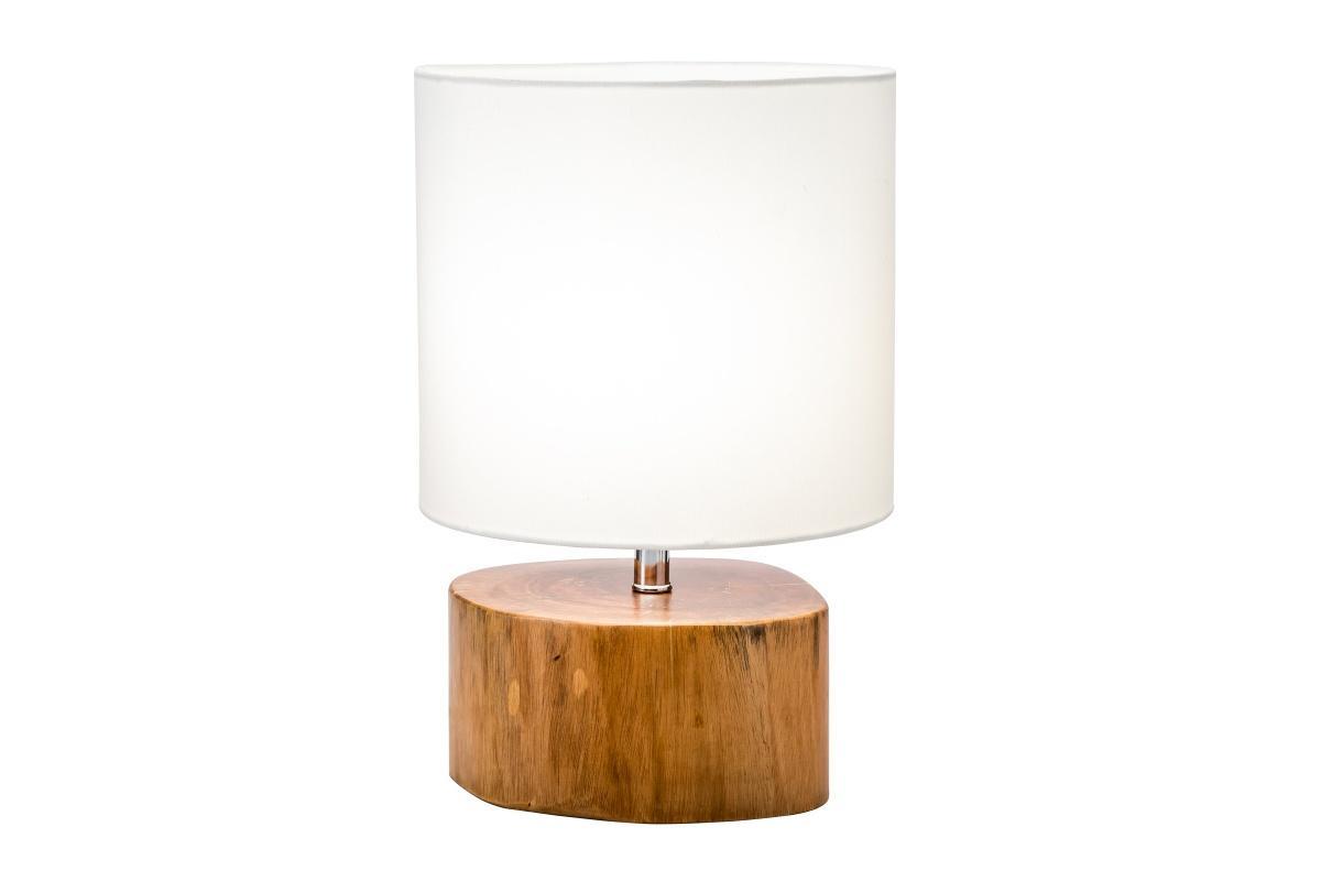 Designová stolní lampa Desmond, 35 cm, mahagon