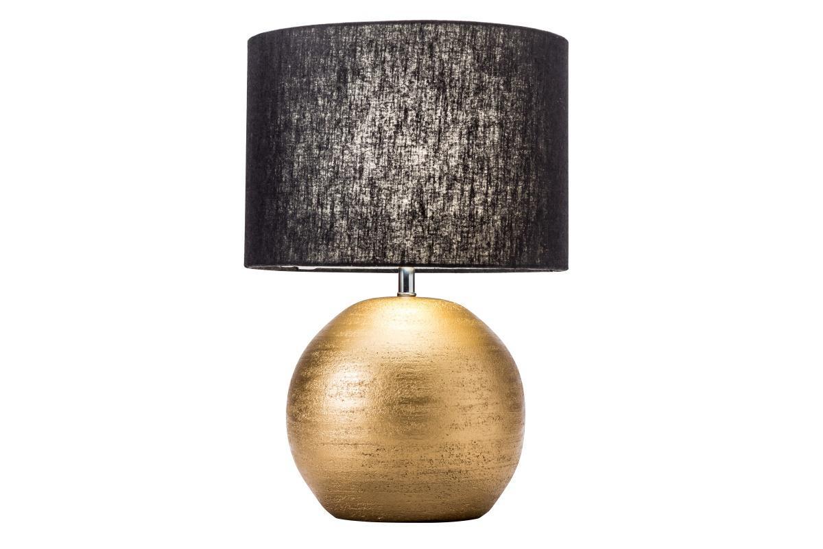 Designová stolní lampa Amira, 45 cm, zlatá / černá