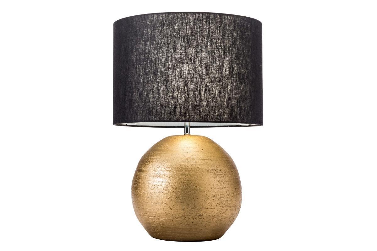 Designová stolní lampa Amira, 57 cm, zlatá / černá