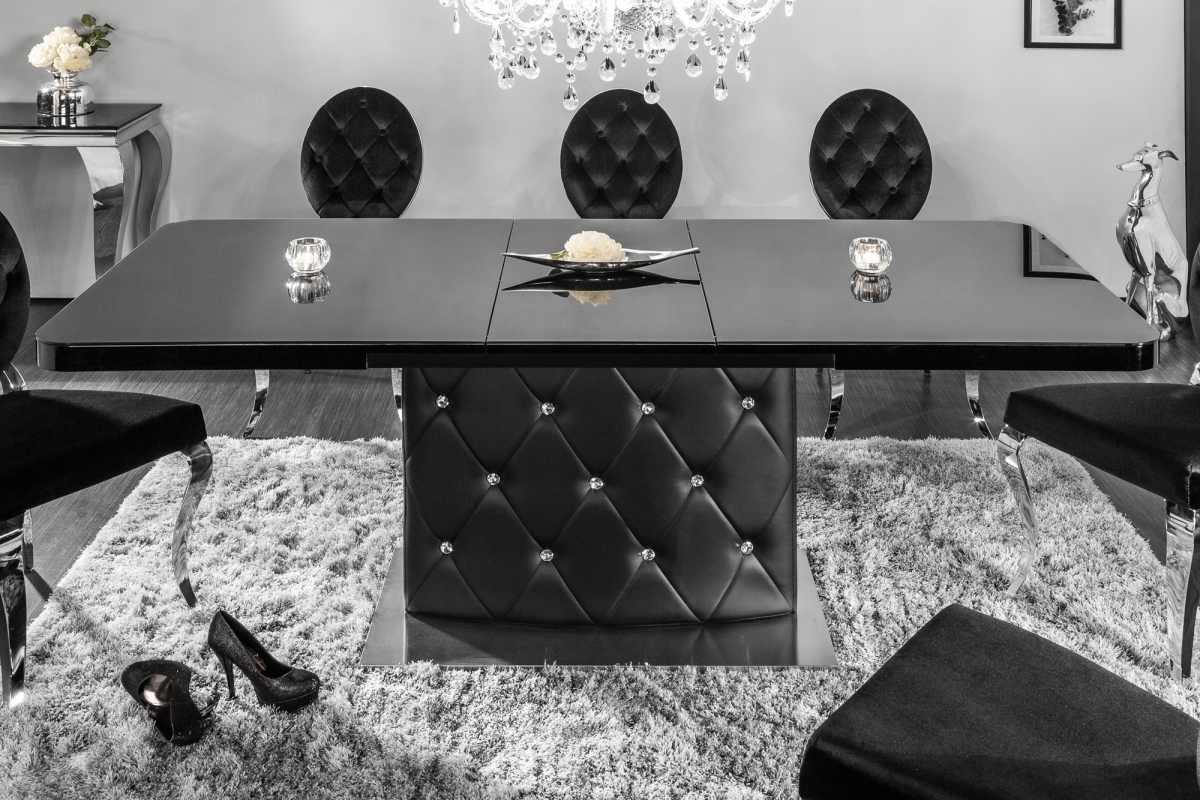 Roztahovací jídelní stůl Ramon, 160-200 cm, černý