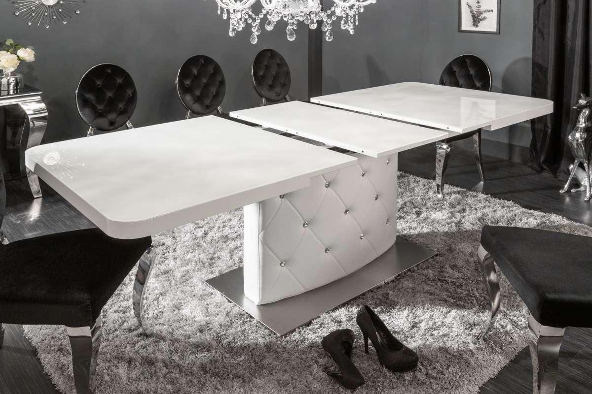 Roztahovací jídelní stůl Ramon, 160-200 cm, bílý