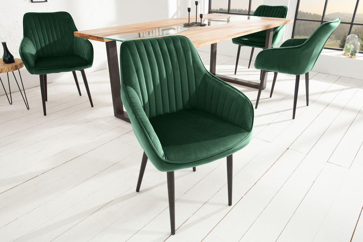 Designová židle Esmeralda, smaragdová zelená